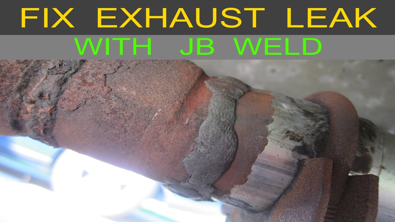 exhaust muffler leak quick and easy hole fix