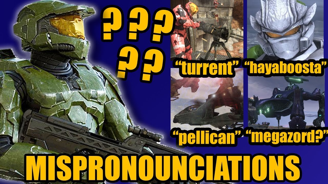 [Rocket Sloth] Common Mispronunciations and Mistakes Halo Fans Make