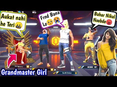GrandMaster Girl Call Me Noob🤬😤घमंडी लड़की आजा 1 Vs 4 में !!