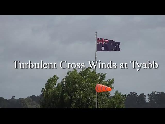 A32 Vixxen landing in turbulent cross winds