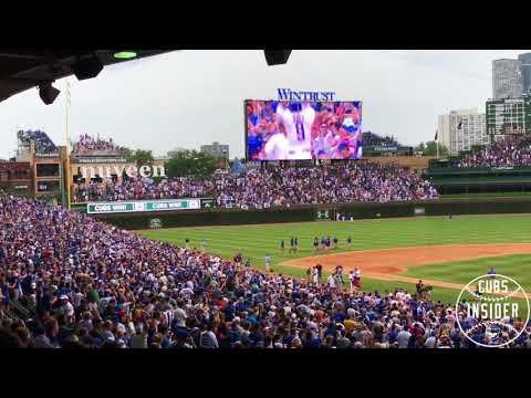 Cubs Walk-off win over Blue Jays - Long Version w/ 'Go Cubs Go'