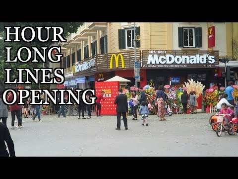 McDonald's in Hanoi VIETNAM vlog - Hour Long Lineups