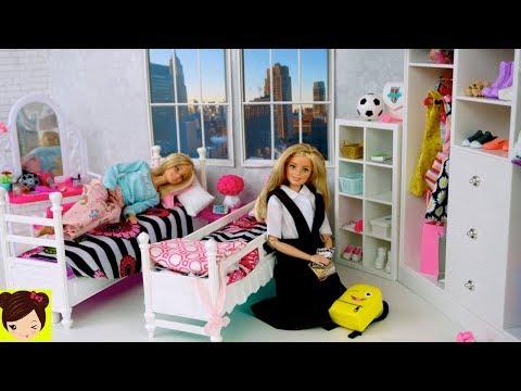 Desayuno Escuela Donas Uniformes Con Barbie Rutina De Gemelas N8v0mwn