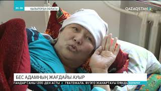 «Самара-Шымкент» тас жолында болған жол апатынан зардап шеккен 74 адамның бесеуінің жағдайы ауыр