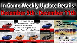 GTA 5 ONLINE IN WEEKLY UPDATE DETAILS! NEW DLC TEASER, 2x MONEY OPPORTUNITIES, DISCOUNTS & MORE!