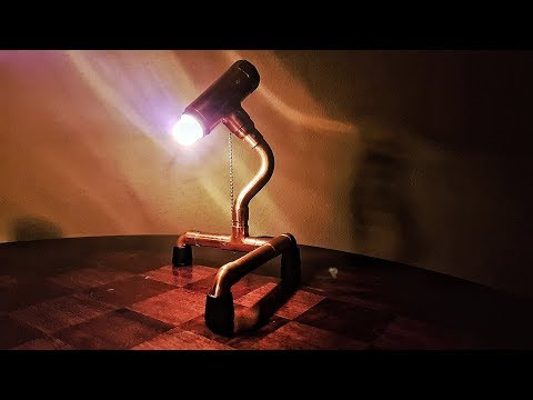 Copper pipe lamp /Alchemik Garage