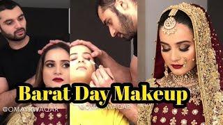 Aiman Khan Barat Day Makeup by Brides by Omayr Waqar