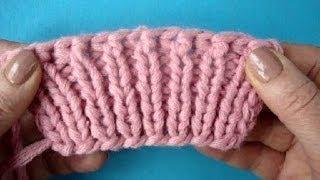 Прямые и обратные накиды   Как закрыть петли Вязание спицами Урок 48 Knitting bind off