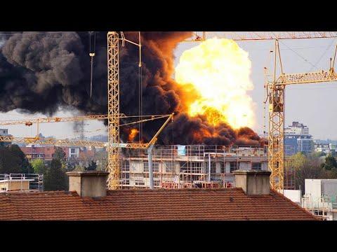 Explosion: Handyvideo zeigt Feuerball über Freiburg-Haslach