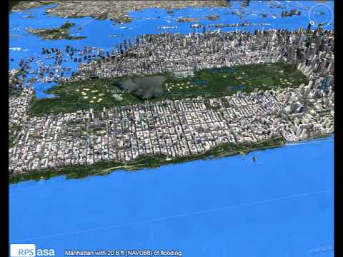 Manhattan with 20.8 ft (NAVD88) of flooding