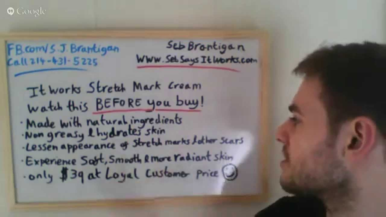 It Works Stretch Mark Cream Watch Before You Buy Product Demo