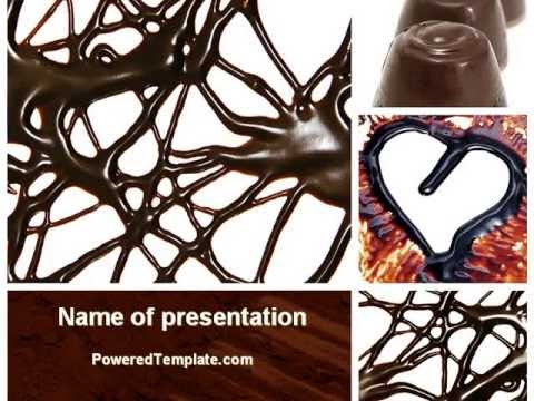 chocolate powerpoint template by youtube. Black Bedroom Furniture Sets. Home Design Ideas