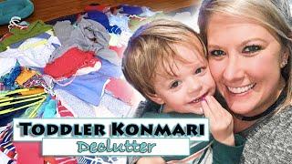 Toddler Closet Konmari Method Decluttering   Baby Clothes Purge & Declutter