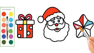 How To Draw Santa Claus -  Santa Claus Coloring Pages  - Merry Christmas