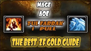 WoW Classic Gold Farm #1 Mage AoE ZF 1 Pull