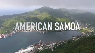 Port Call in American Samoa (Drone Footage)