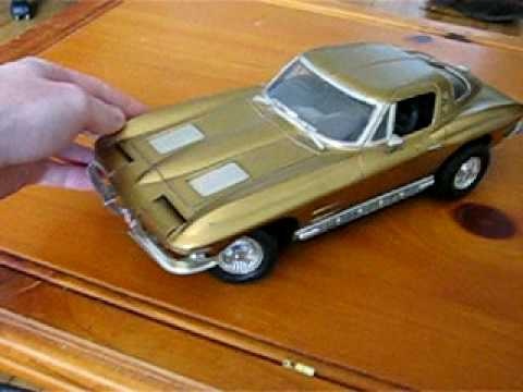 Rare 1963 1964 Corvette Plastic Model Car New Bright 1 12 Scale