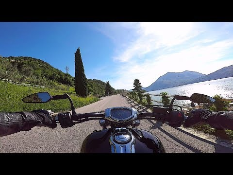 Riding in Valsassina valley - Lake Como, Italy - road SP 62 Lecco