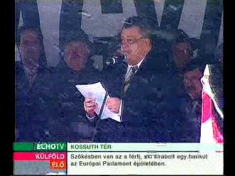 Magyar Hírlap tüntetés - Széles Gábor beszéde 1. rész