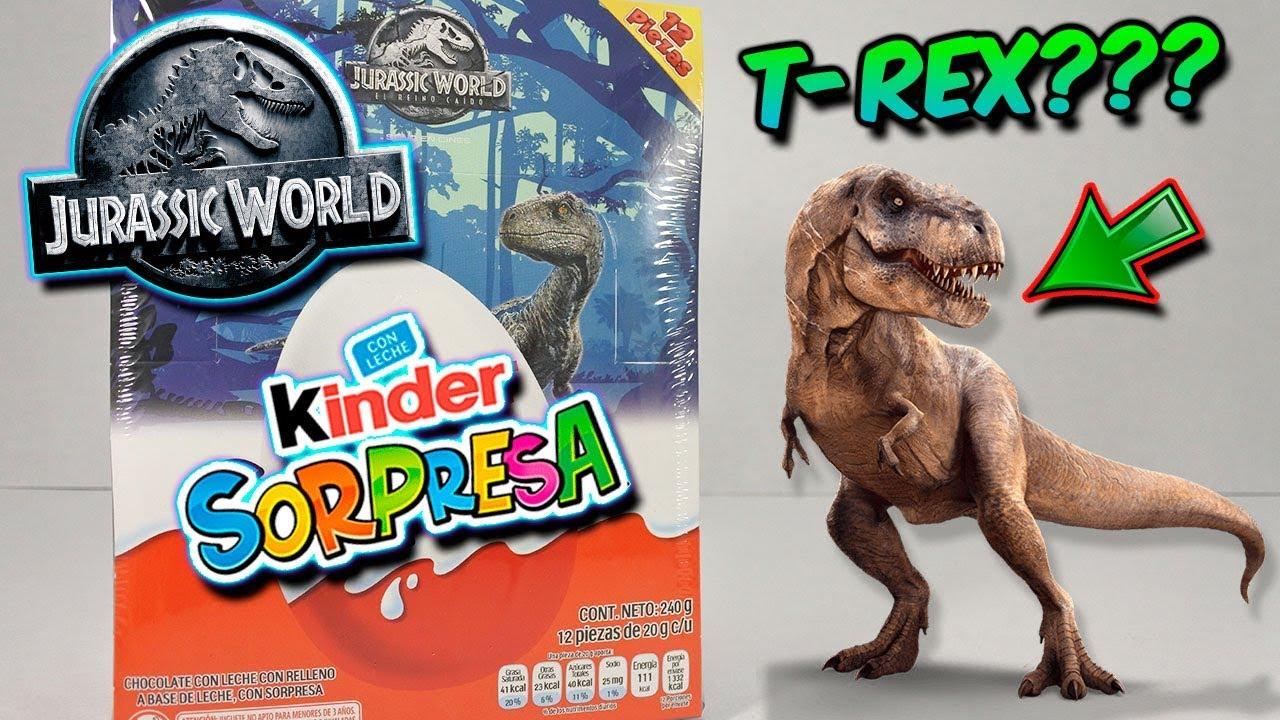 Abriendo Caja Completa KINDER SORPRESA Jurassic World El Reino Caído | Huevo Kinder Sorpresa #1