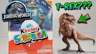 Abriendo Caja Completa KINDER SORPRESA Jurassic World El Reino Caído   Huevo Kinder Sorpresa