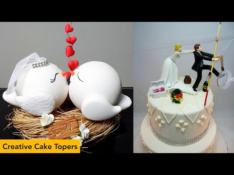 cute-fun-trend-2020-with-wedding-cake-topper -so-creative-funny-and-cute-wedding-cake-topper-ideas