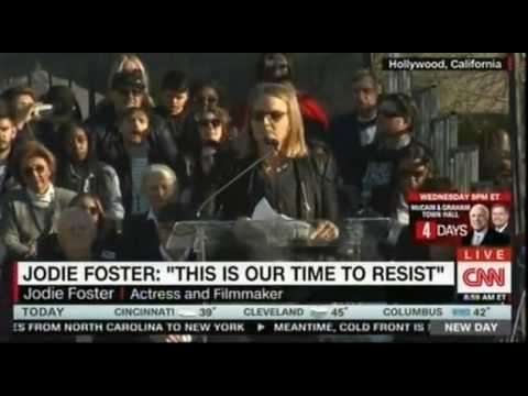 Hollywood hosted an event to protest Trump   Jodie Foster 'This is our time to resist'