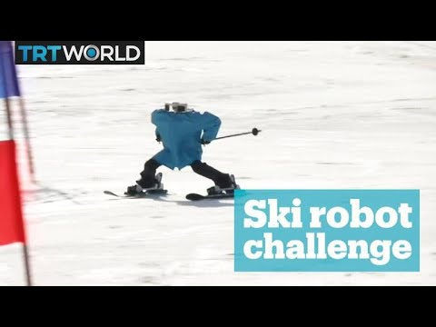 The world's first robot ski tournament