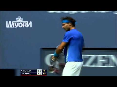 RAFAEL NADAL   BOOM !! Monster Forehand   Slow Motion Replay