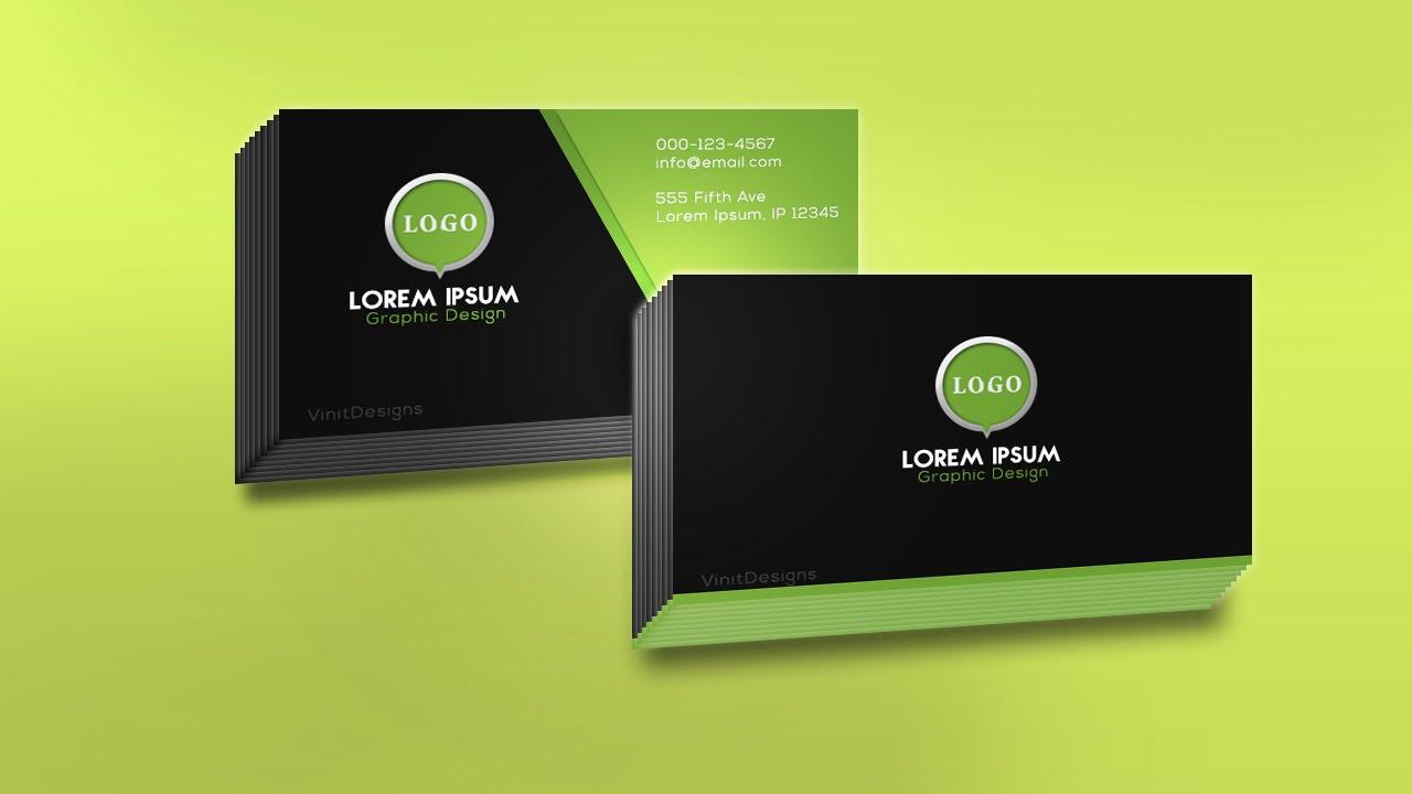 Photoshop Speed Art – Business Card Design