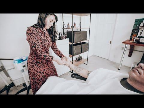 Female Barber Hand & Arm Massage (ASMR - No Talking - Nomad Barber)