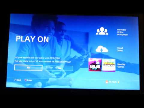 How to disable PS PLUS auto renewal on PS4