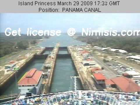 Island Princess Cruise Ship Webcam - Panama Canal