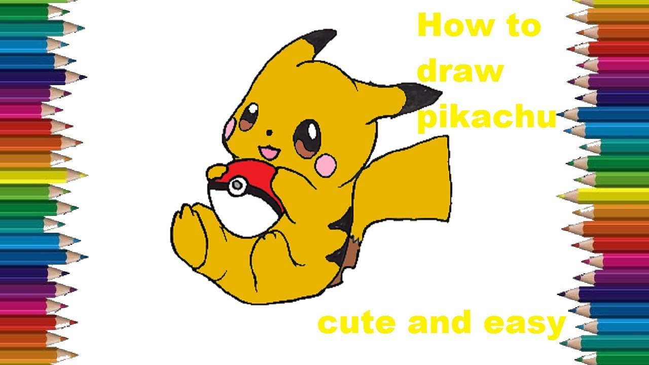 How to draw cute pikachu from pokemon go pokemon drawing easy