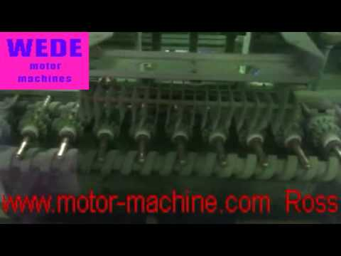 Speedy electrostatic armature(rotor) powder coating machine-WEDE motor machines
