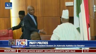Senate President Swears In Ademola Adeleke As Senator