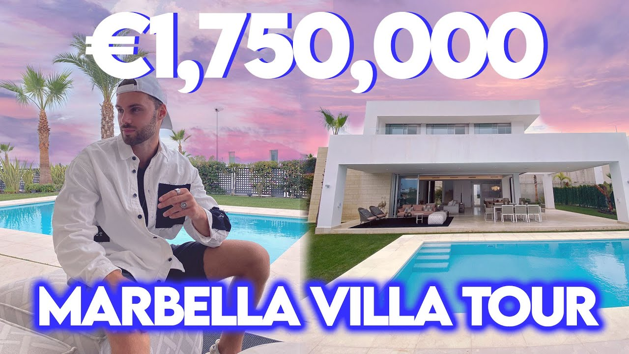 COME TOUR THIS €1,750,000 BRAND NEW VILLA WITH US!! | *MARBELLA HOUSE TOUR*