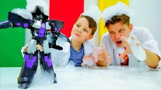 Пенная вечеринка с Трансформерами! – Ловушка для Мегатрона – Игры онлайн.