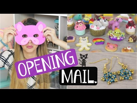 CRAFTY MAIL HAUL #11 - Opening Gifts from Viewers // Handmade Inspiration - SoCraftastic