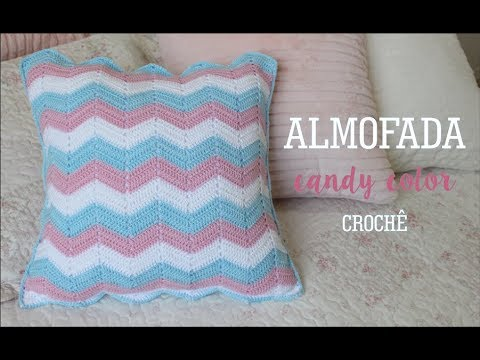 ALMOFADA CHEVRON CANDY COLOR | CROCHÊ