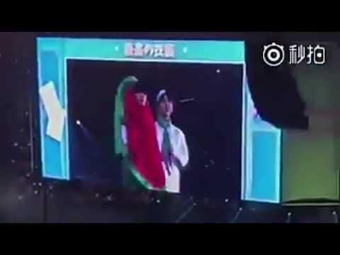 Jungkook bites taes watermelon costume