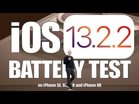 iOS 13.2.2 Battery Performance / Speed Test on iPhone SE, 6S, 7, 8 and iPhone XR
