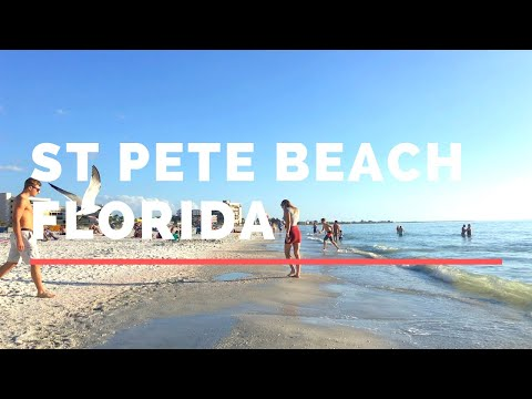 Walk at St Pete Beach Florida - St Petersburg Beach Florida 🏖️ - Florida Beach
