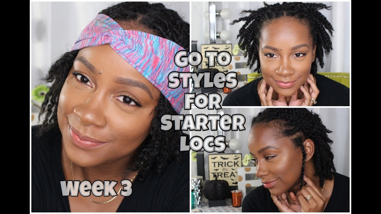 loc update week 3/ my go to styles for starter locs