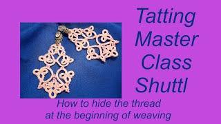 Как спрятать нитку в начале плетения Урок 6