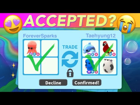 Trading MEGA NEON Octopus In Adopt Me + Username Reveal?