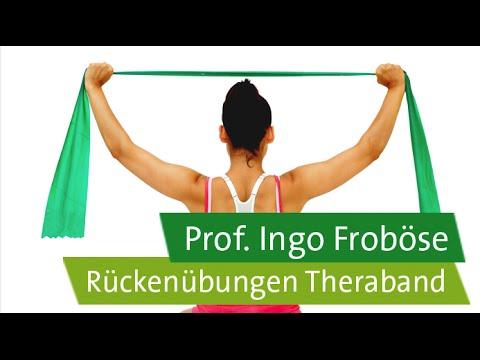Rückenübungen mit dem Theraband – Prof. Ingo Froböse - YouTube