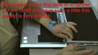 How to tighten laptop hinges  dell inspiron 1501, E1505,1505,6000,9000& more the same palm rest