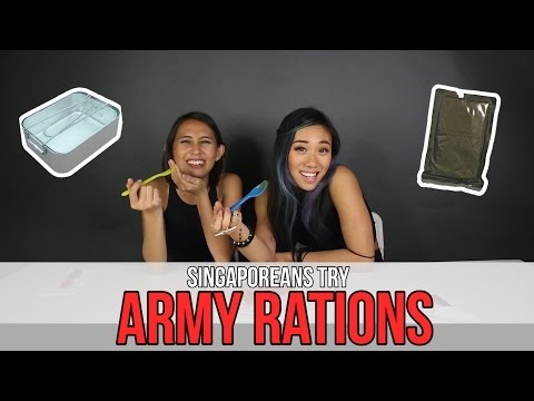 Singaporeans (Girls) Try: Army Rations (feat. Sandra Riley Tang)   EP 23