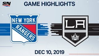NHL Highlights | Rangers vs. Kings – Dec. 10, 2019
